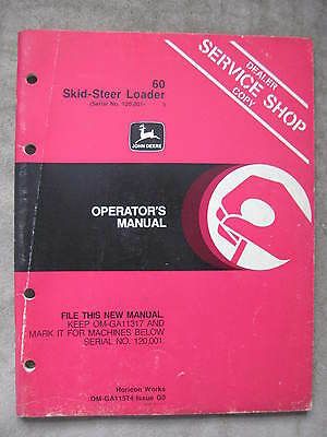 John Deere 60 Skid-steer Loader Operators Manual Jdg0