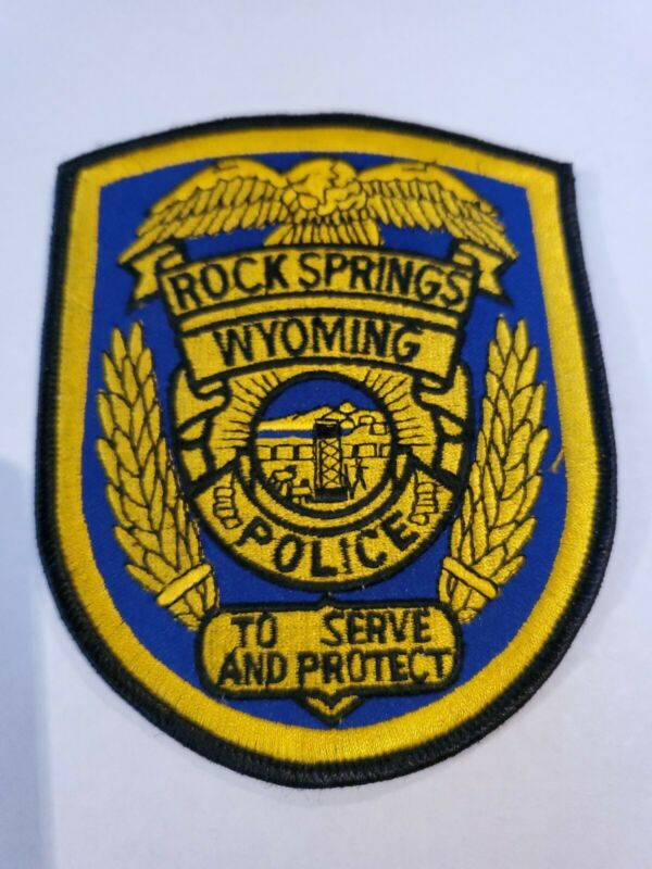 Rock Springs Police (Wyoming) 3rd Issue Shoulder Patch from the 1980