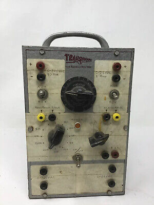Vintage Transvision Tv Component Tester Activator Powerstat Parts Or Repair