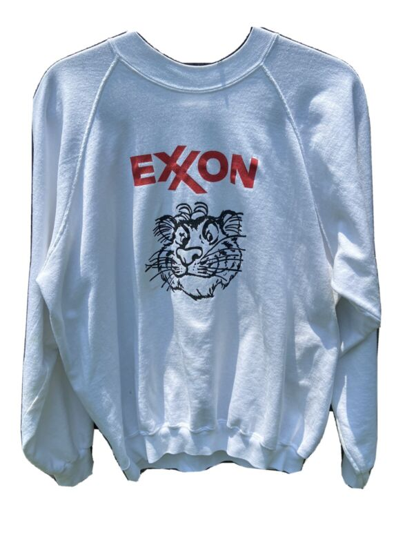 Vintage ESSO ExxonTiger Sweatshirt XL Gas Station  PUT A TIGER IN YOUR TANK