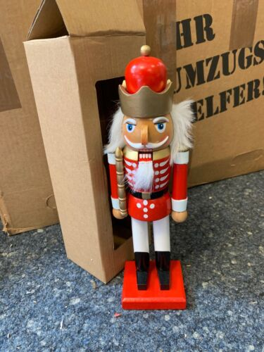 Nut Cracker Decor Wood 11in Top Condition