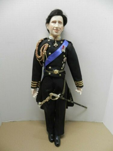 DANBURY MINT PRINCE CHARLES WEDDING DOLL - PORCELAIN - 19""
