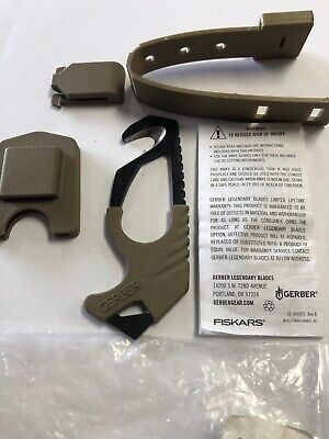 New with Tags Gerber Coyote Brown Multicam Strap / Seat Belt Cutter Rescue Hook  (Gerber Seat)