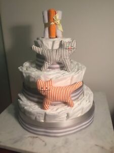 Gender Neutral  3-tier Diaper Cake