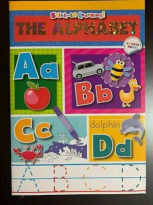 STICK-TO-LEARNING! THE ALPHABET ABC'S WORKBOOK WITH STICKERS! FUN KIDS SCHOOL!