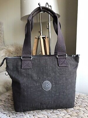 Kipling ash brown medium handbag tote bag shopper