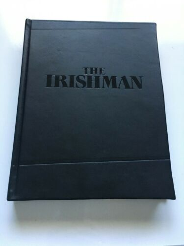 THE IRISHMAN Movie Hand Signed MARTIN SORSESE & STEVEN ZAILLIAN Script FYC Promo