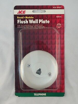 Ace Telephone (ACE HARDWARE ACE 36207 TELEPHONE ROUND MODULAR FLUSH WALL PLATE IN)