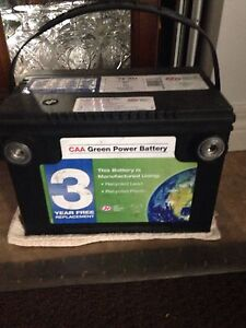 12.62 VOLT CAA BATTERY ALMOST NEW  ASKING $140.