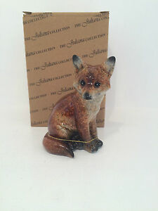Juliana Natural World Collection Sitting Fox Figurine Ornament BRAND NEW BOXED