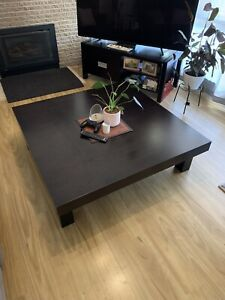 NEED GONE THIS WEEKEND Chocolate Coffee Table and side table