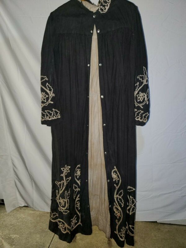 Antique Odd Fellows Black White Race Robe