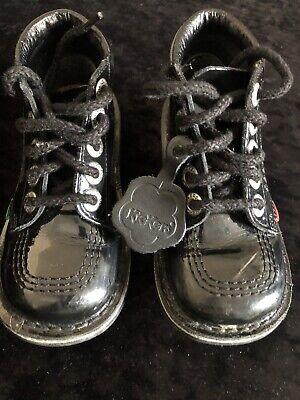 Girls Size 10 Black Patent Kickers
