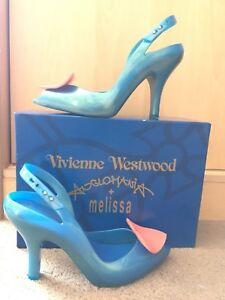 Vivienne Westwood Blue Lady Dragon Heart Shoes. Size 7 (EU40)
