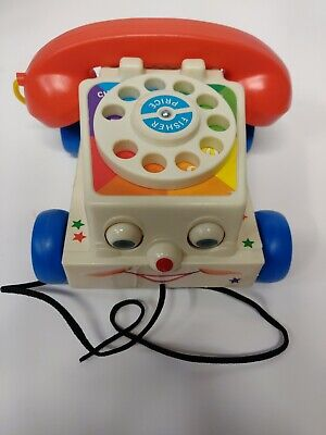 FISHER PRICE CHATTER PHONE TELEPHONE PULL TOY 2009 Mattel