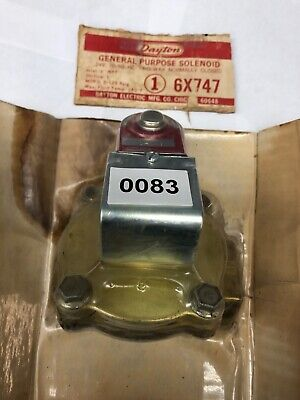 Dayton General Purpose Solenoid Valve 6x747 1 Inch Two Way Normally Closed 24v