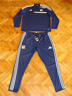 Usado, Olympique Lyon Soccer Tracksuit Lyonnais Adidas France Football Training Suit segunda mano  Embacar hacia Argentina
