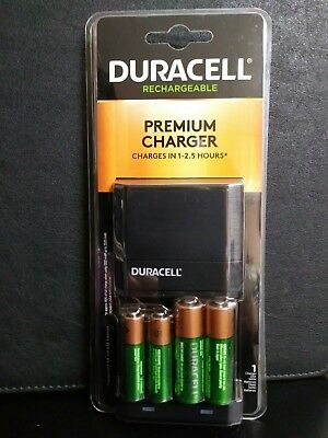 Duracell Premium Charger with (2)-AA / (2)-AAA Rechargeable Batteries INCLUDED for sale  Shipping to India