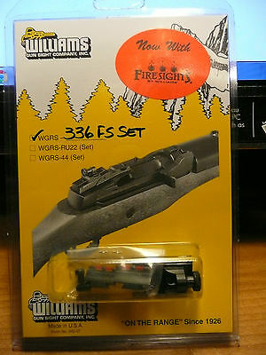 Williams Gun Sight For Marlin 336 Rifle Peep Sight W Red Fiber Optic Front Sight