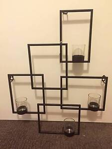Wrought Iron Look Geometric Candle Holder Wall Art St Leonards Willoughby Area Preview
