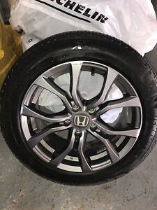 Honda Accord Touring Aluminum Alloy Michelin Snow Tires