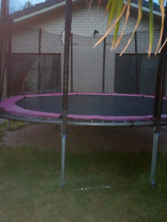 Very large trampoline  nesting moved on one side  Grange Charles Sturt Area Preview
