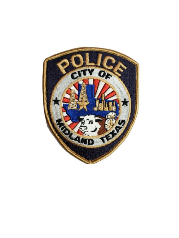 Midland Tx Police Patch  100% Embroidered