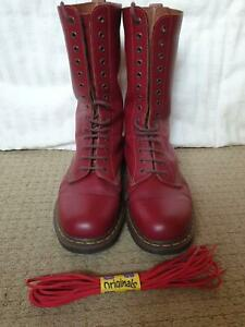 Doc Marten cherry  red 14 hole boots