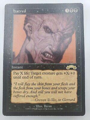 x1 Hatred Exodus Magic The Gathering Light Play MTG Free Shipping USA