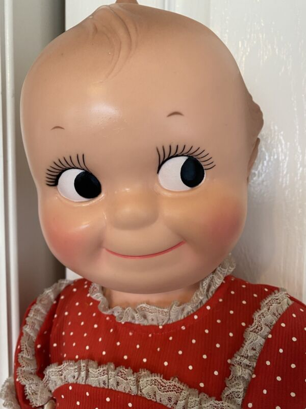 """Vtg 1966 Cameo Kewpie 27"""" Tall Babydoll Doll w/Outfit & Shoes - Excellent Shape!"""