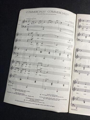 COMMERCIALS COMMERCIALS -2-part Sheet Music Piano/Guitar , Roger Emerson 1977 - $14.95