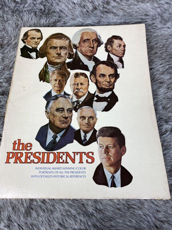 The Presidents Portraits Vtg Print Historical Card Set Lot of 40 11 X 14