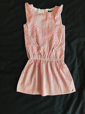 Nautica Seersucker Striped Girls Summer Dress Size 8 NWT
