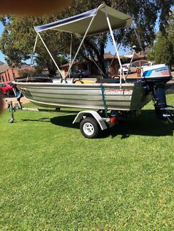 Stacer 3.7 aluminium runabout with 12hp M12C tohatsu