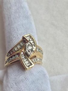 10K 33 Diamond gold ring