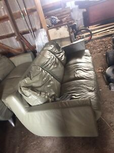 Green Leather Couches