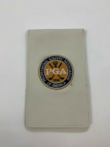 Sunfish Golf Score Card Holder White PGA of America Logo A085