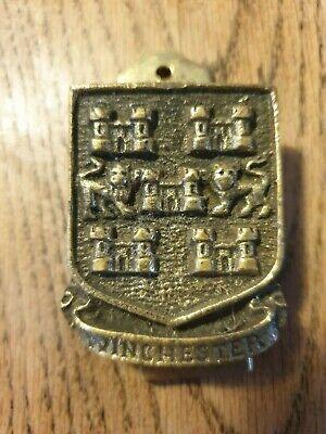 Winchester coat of arms brass door knocker