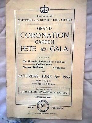 Grand Coronation garden fete and gala , Nottingham Civil service 1953 .