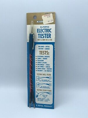 Vtg Electrical Tester All-purpose A Royal Product