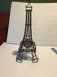 Eiffel Tower Metal Wire Wall Clock 17