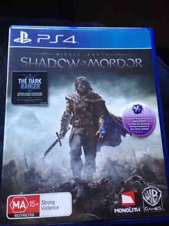 Shadow of Mordor PS4 played once unused DLCs Ashmont Wagga Wagga City Preview