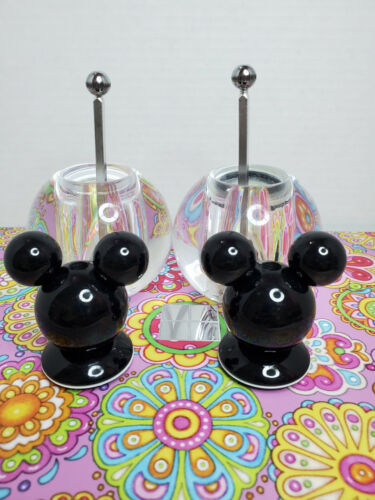 Disney Mickey Mouse Acrylic Salt And Pepper Grinders Mill  V2