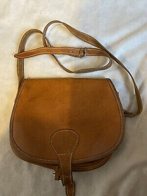 Vintage Tan Leather Satchel Style Bag