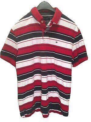 Tommy Hilfiger VINTAGE  Striped Men's Short Sleeve Polo Shirt Size L NWOT