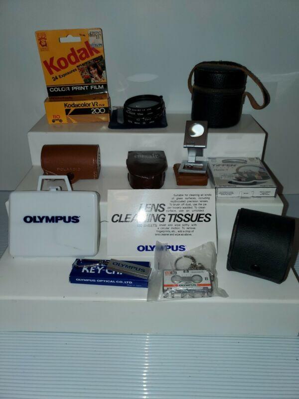 Camera Photography Equipment Lot Photo Olympus Minolta Polaroid Tiffen v3526