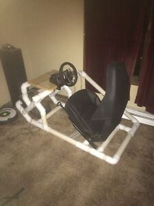 Racing frame with seat.