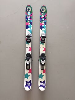 Girls Snow Skis with bindings 110cm