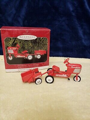 HALLMARK KEEPSAKE ORNAMENT > 1955 MURRAY TRACTOR AND TRAILER METAL MADE IN 1998 for sale  Shipping to Canada