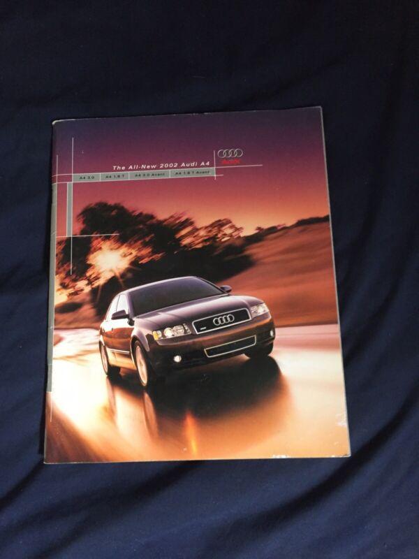 2002 Audi A4 Quattro USA Mareket Color Brochure Prospekt